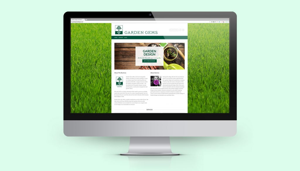 Garden Gems Designs Website