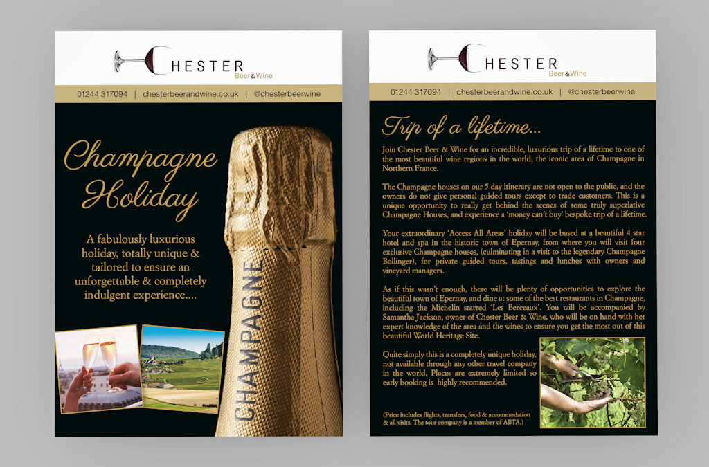 Chester Beer and Wine leaflet design