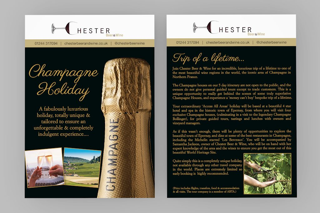 Kirby Design Champagne Holiday Leaflet