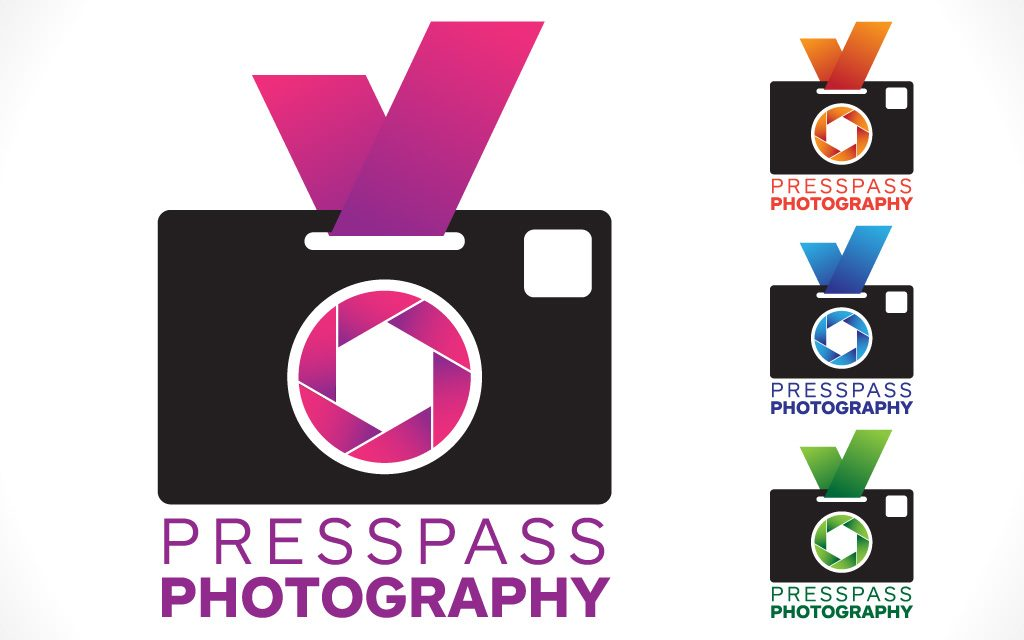 Press pass photography logos