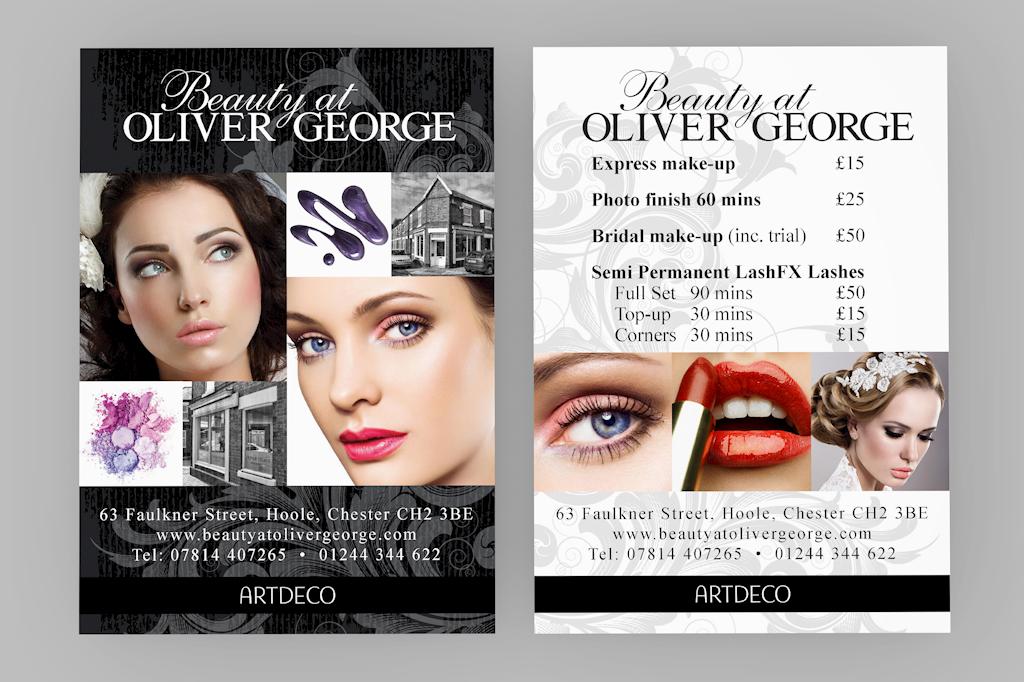 Beauty At Oliver George Flyer Leaflet