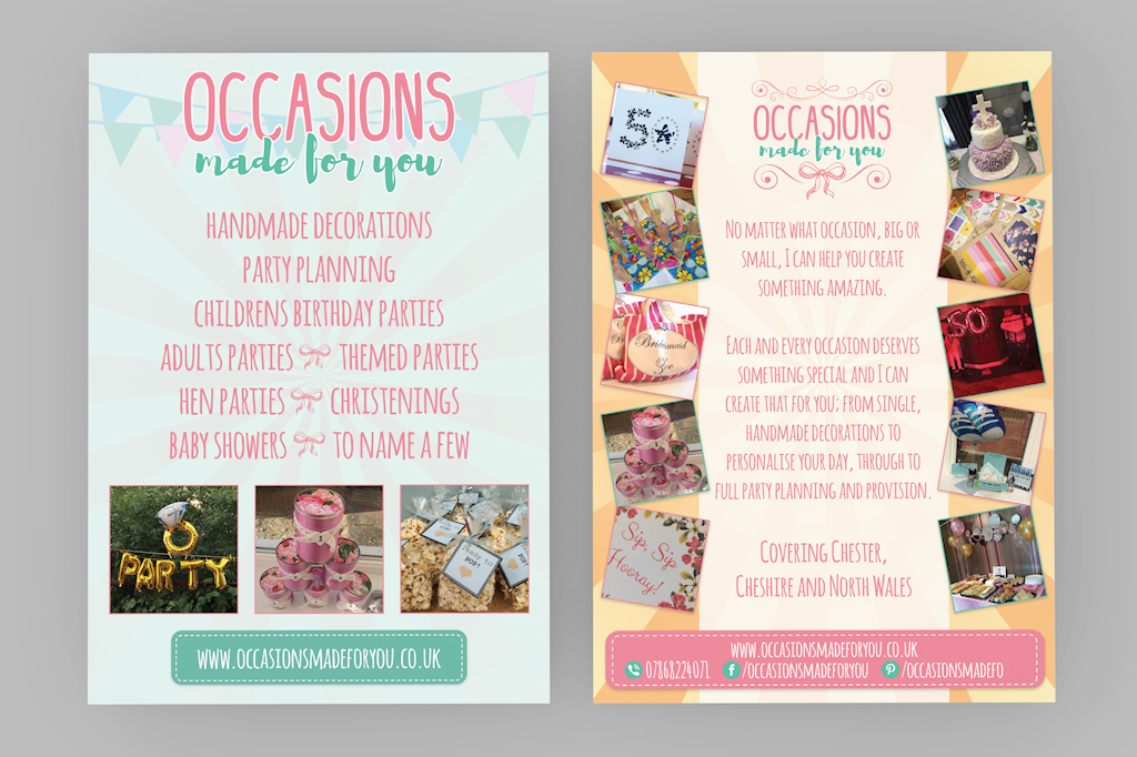Occasions Made For You Chester Flyer Leaflet